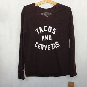NWT • TACOS & CERVEZAS sweatshirt • S •